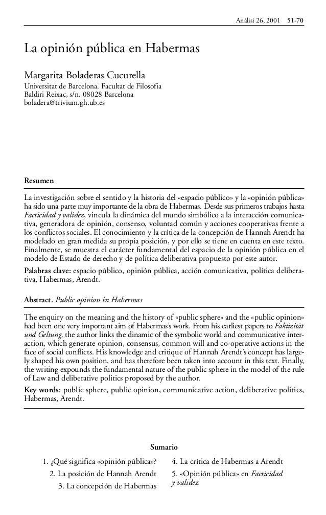 Resumen La investigación sobre el sentido y la historia del «espacio público» y la «opinión pública» ha sido una parte muy...