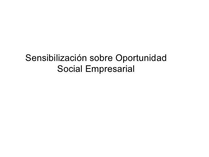 La oportunidad social empresarial hlb