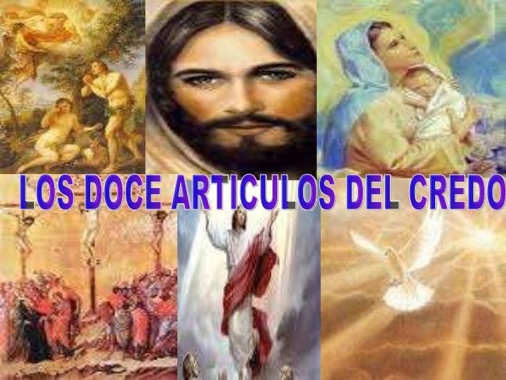 LOS DOCE ARTICULOS DEL CREDO