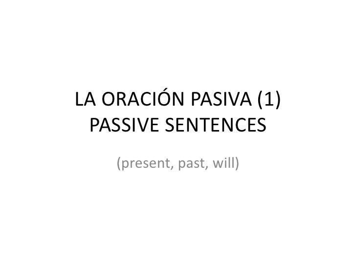 La oración pasiva (1)