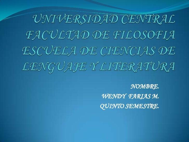 La oracion gramatical por wendy farias