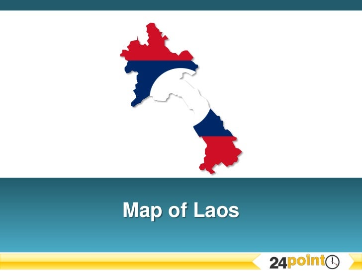 Editable PPT Map of Laos