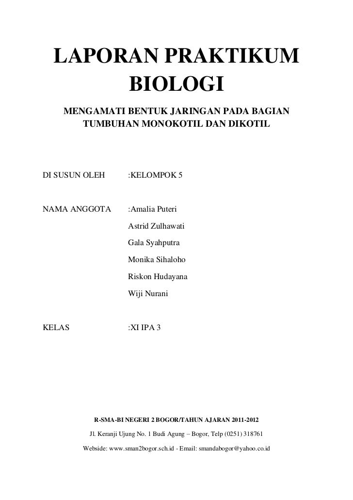 Laporan Biologi (Bentuk Jaring Tumbuhan)