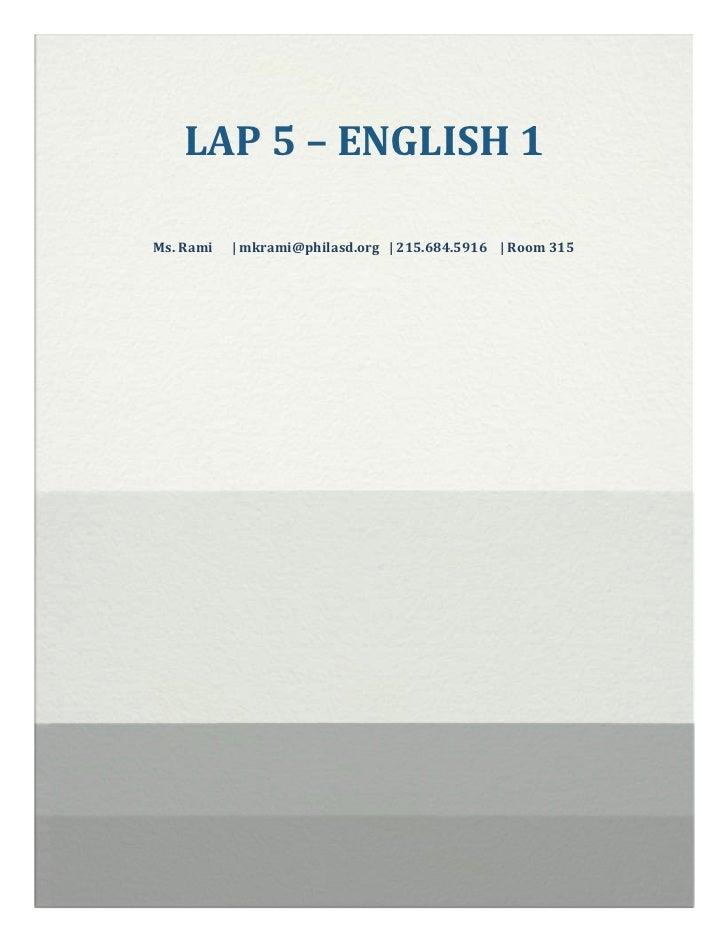 Lap 5 – english 1