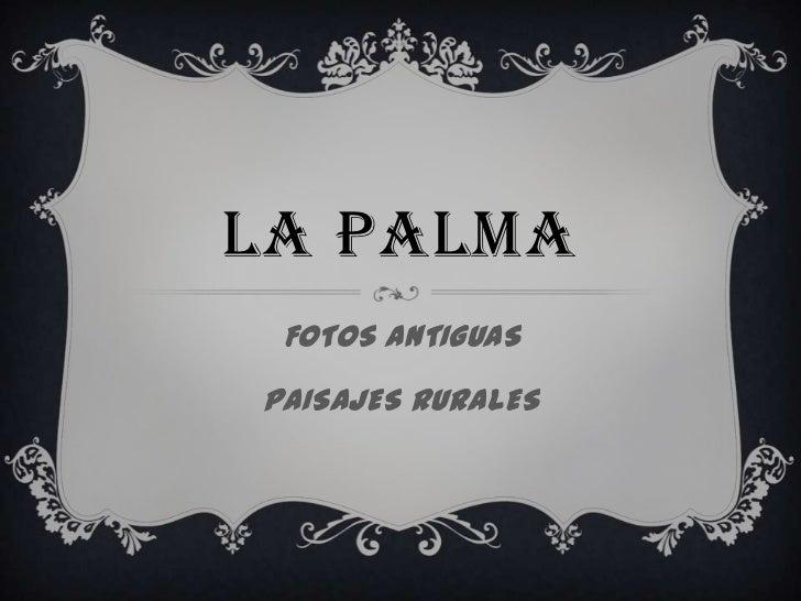 LA PALMA<br />FOTOS ANTIGUAS<br />PAISAJES RURALES<br />