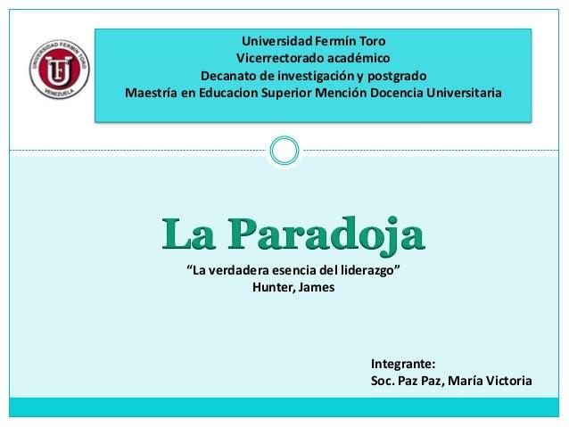 Universidad Fermín Toro                  Vicerrectorado académico            Decanato de investigación y postgradoMaestría...
