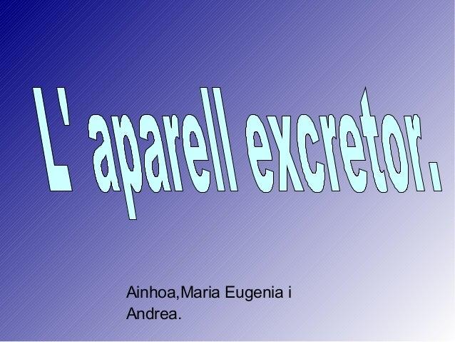 Ainhoa,Maria Eugenia i Andrea.