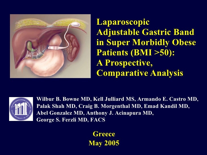 Laparoscopic Adjustable Gastric Band in Super Morbidly Obese Patients (BMI >50): A Prospective, Comparative Analysis Greec...