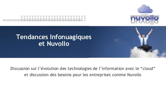 """Discussion sur l'évolution des technologies de l'information avec le """"cloud"""" et discussion des besoins pour les entreprise..."""