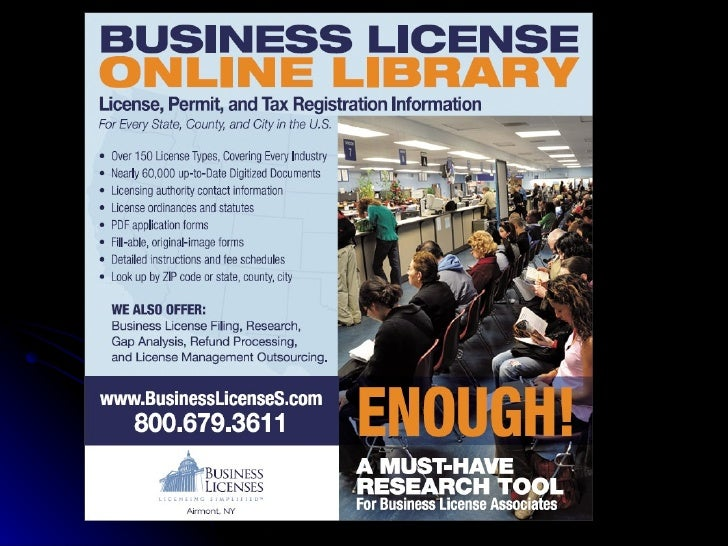 Business License Online Library
