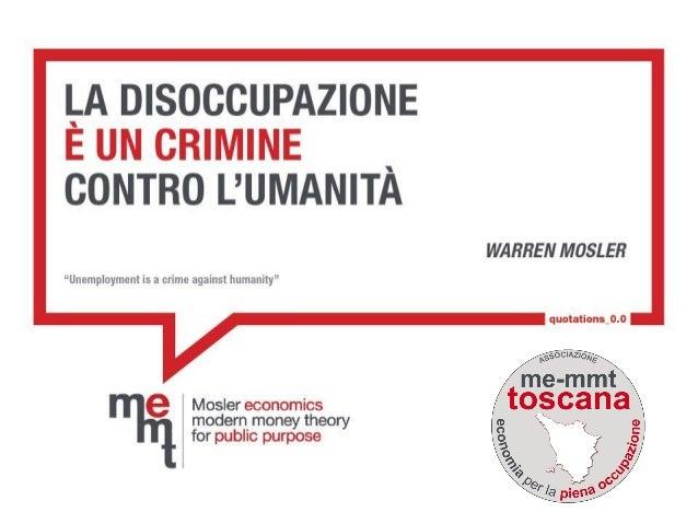 ME MMT Toscana: La permanenza dell'Italia nella zona euro