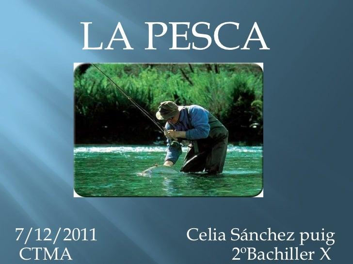 LA PESCA 7/12/2011  Celia Sánchez puig CTMA  2ºBachiller X