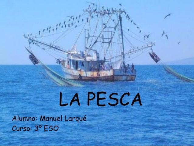 LA PESCA Alumno: Manuel Larqué Curso: 3º ESO
