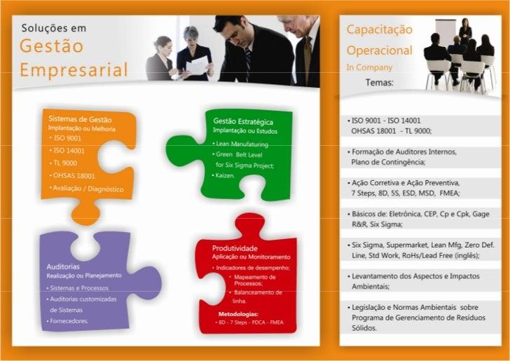 Folder Comercial da LAP SERVIÇOS para Serviços e Treinamentos