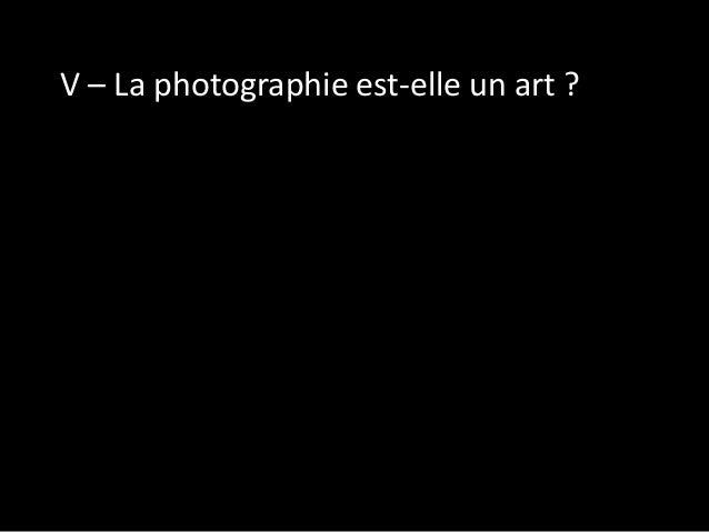 La photographie est un art