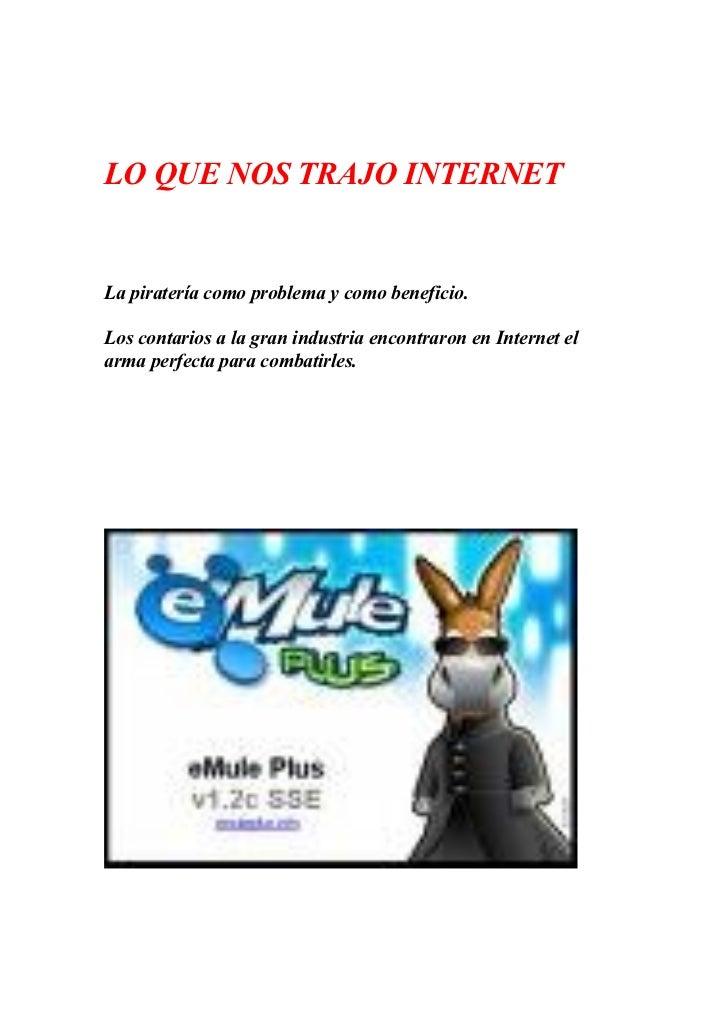 La Pirateria  En Internet
