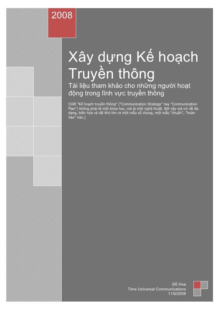 Lap Ke Hoach Truyen Thong
