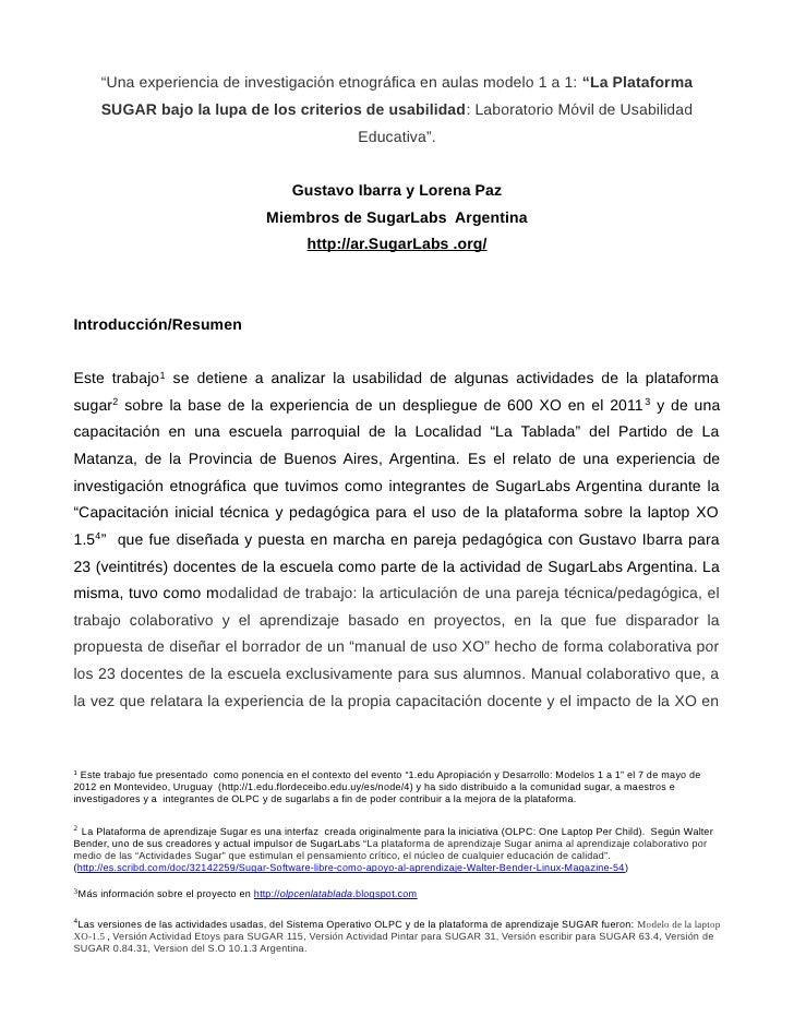 La plataforma sugar bajo la lupa de los criterios de usabilidad  laboratorio móvil de usabilidad educativa