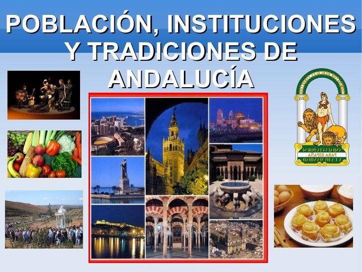 La población en Andalucía