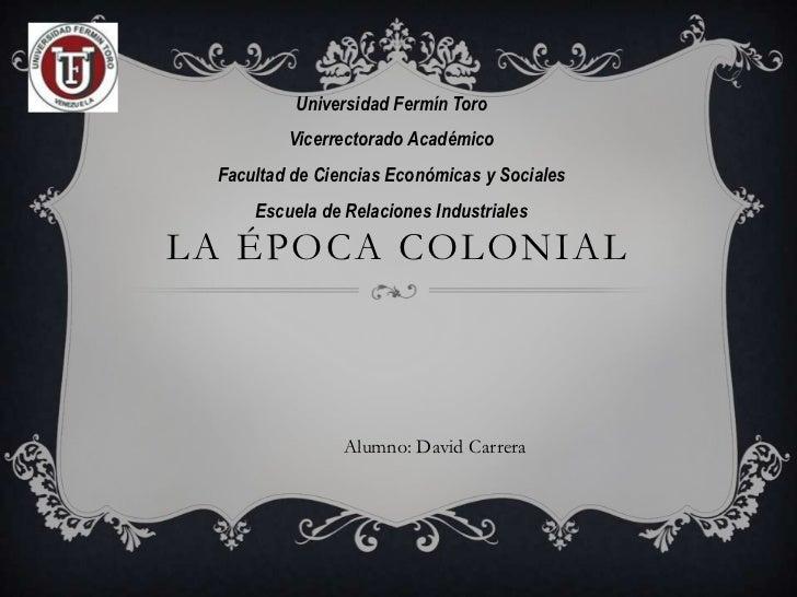 Universidad Fermín Toro         Vicerrectorado Académico Facultad de Ciencias Económicas y Sociales     Escuela de Relacio...