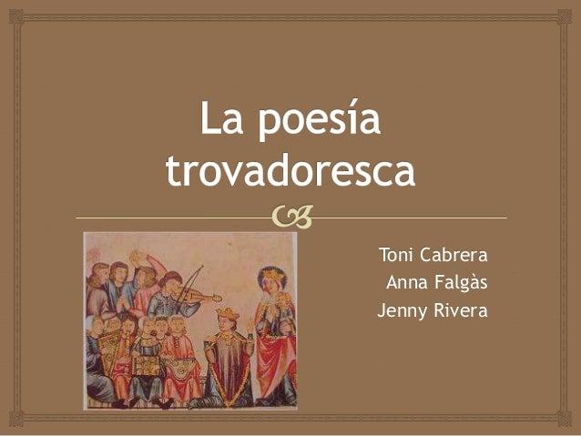 Toni Cabrera Anna FalgàsJenny Rivera