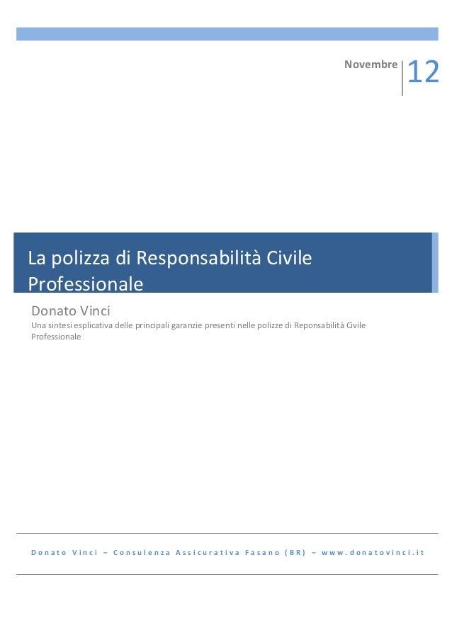 La polizza di responsabilità civile professionale
