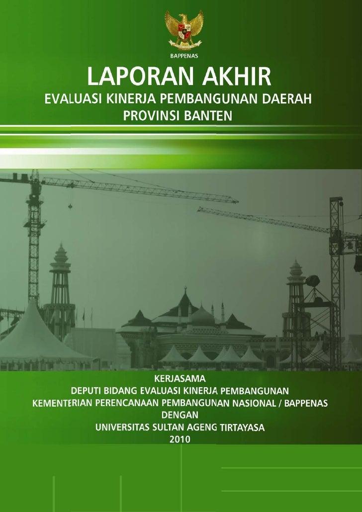 Laporan Akhir EKPD 2010 - Banten - UNTIRTA