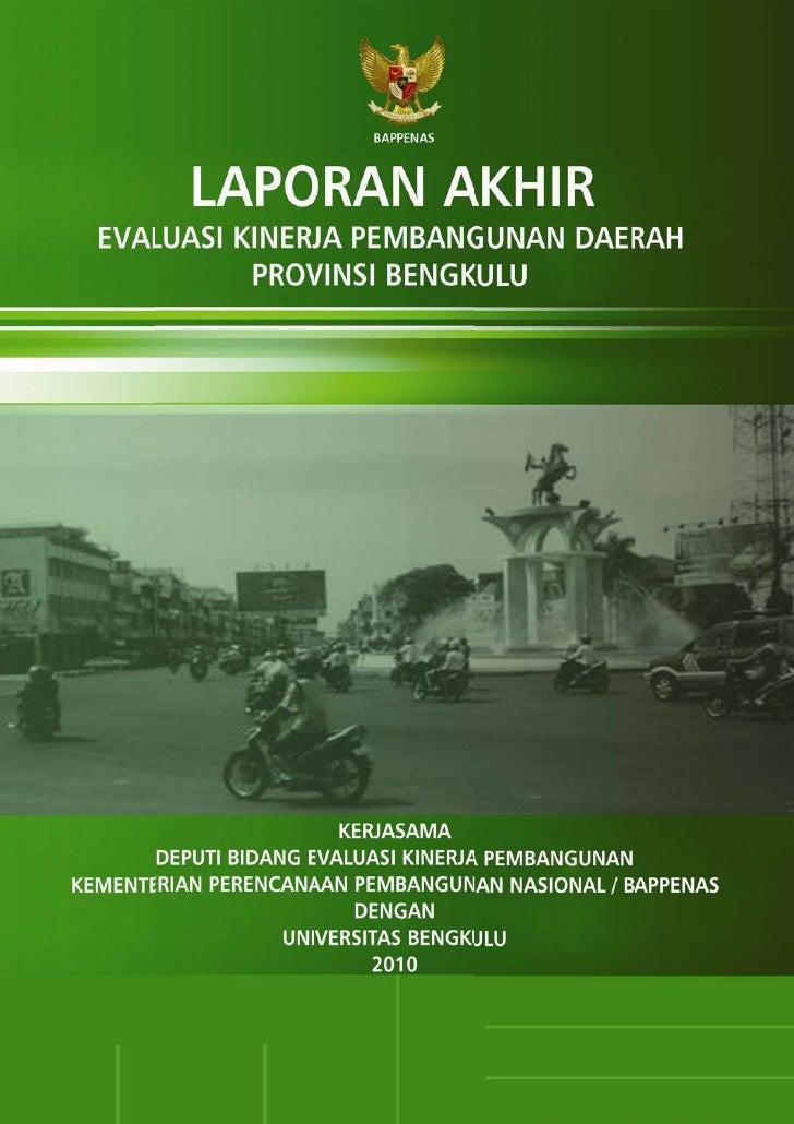 Laporan Akhir EKPD 2010 - Bengkulu - UNIB