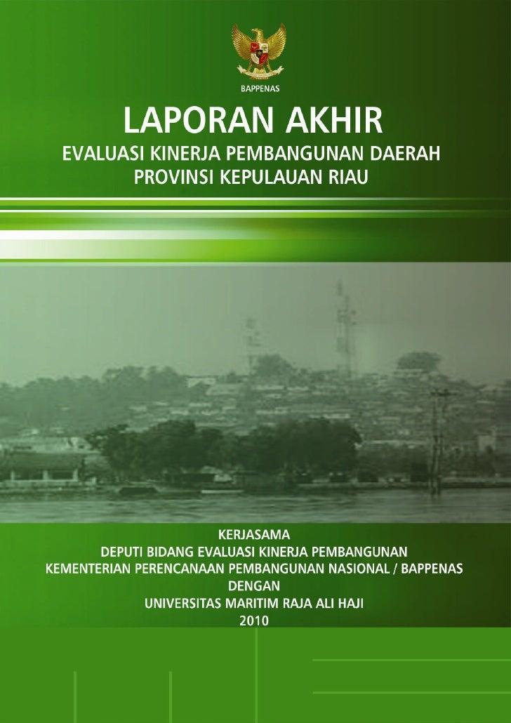 Laporan Akhir EKPD 2010 - Kepri - UMRAH