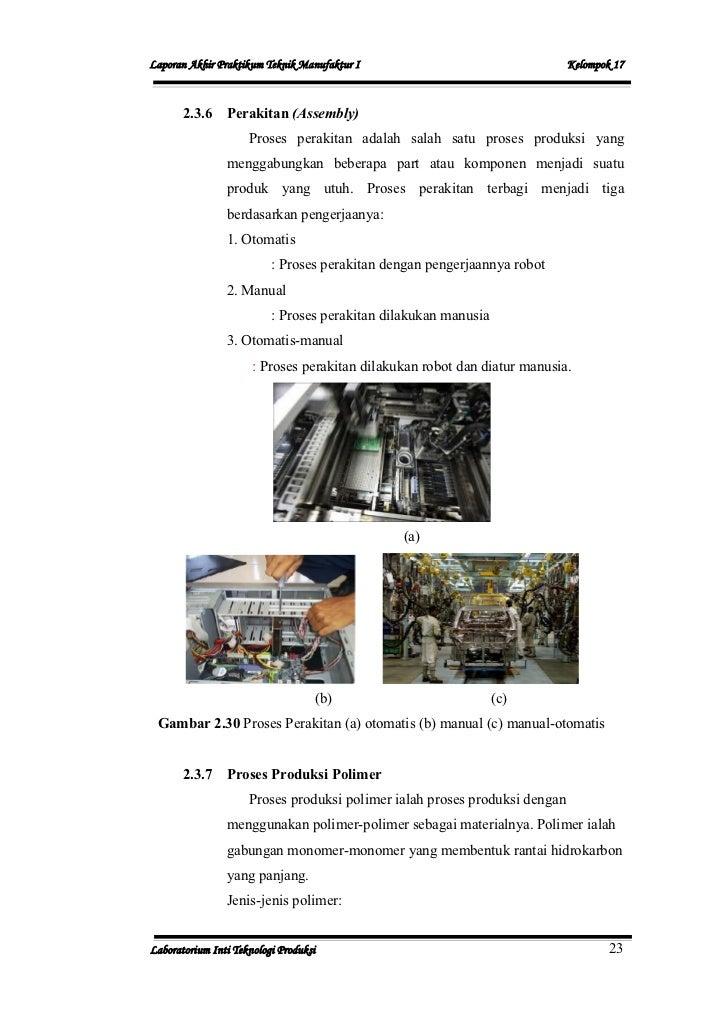 Laporan Pratikum Proses Produksi 1