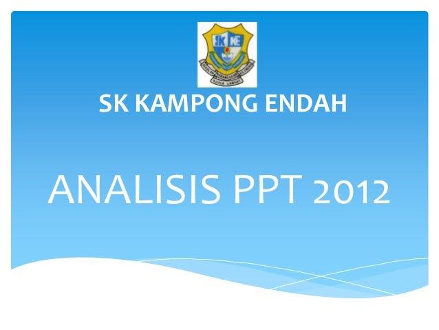 SK KAMPONG ENDAHANALISIS PPT 2012