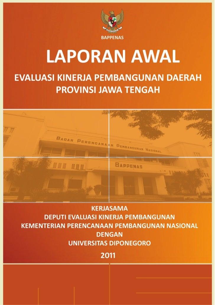 Laporan Awal EKPD 2011 Provinsi Jawa Tengah