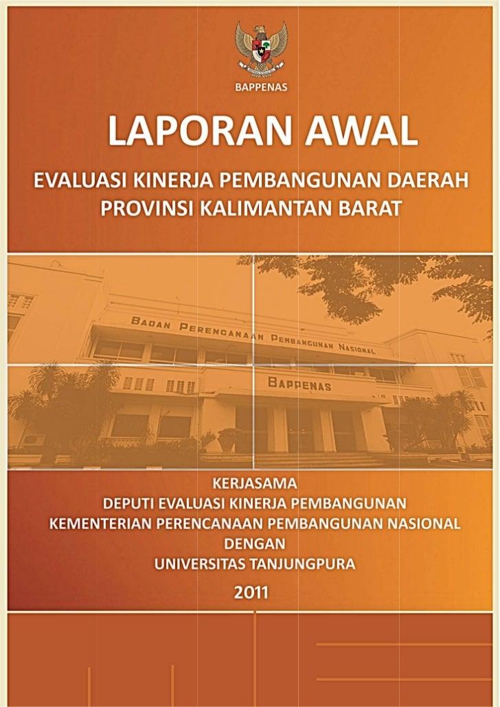 Laporan Awal EKPD 2011 Provinsi Kalimantan Barat