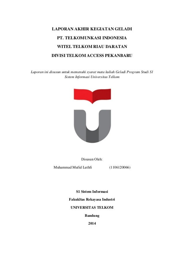 Laporan Geladi Telkom University Muhammad Mufid Luthfi