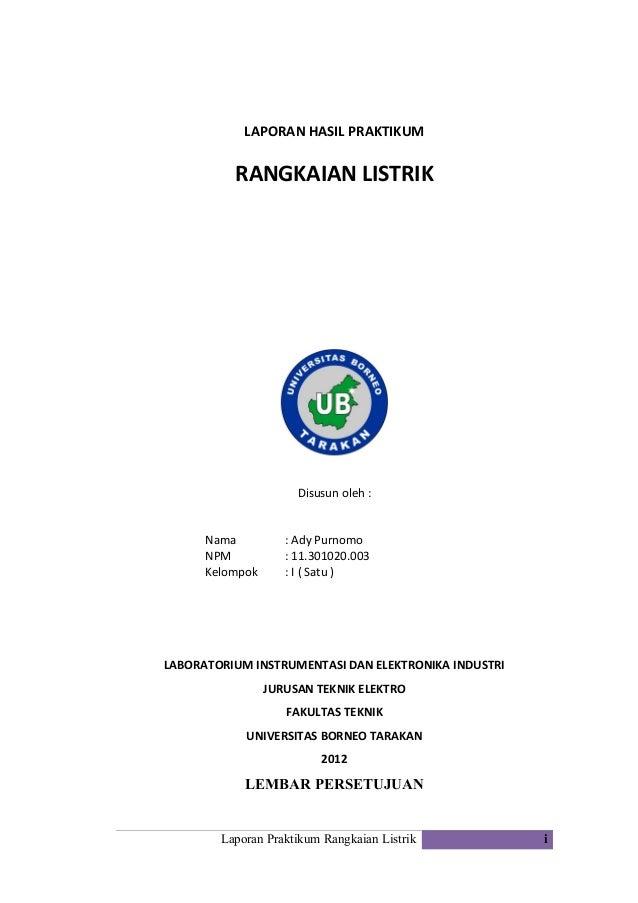 Laporan Hasil Praktikum Rangkaian Listrik Halaman Depan Share The Knownledge