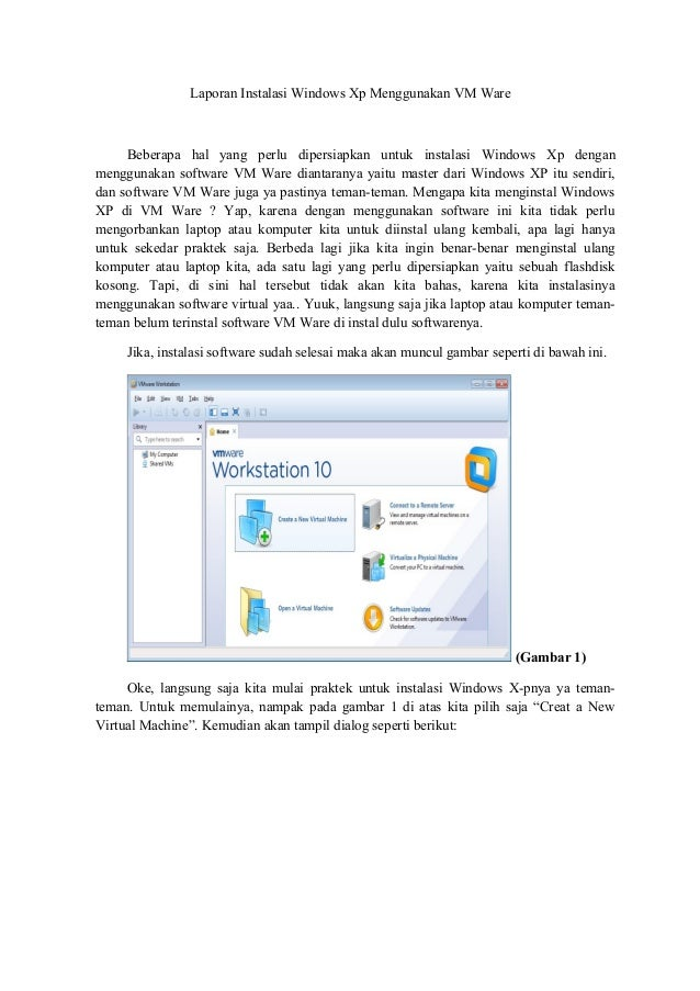 Instalasi windows xp menggunakan vm ware