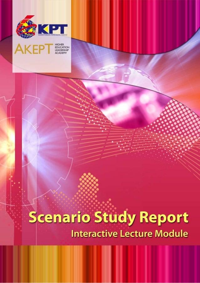 Scenario Study Report: Interactive Learning Module