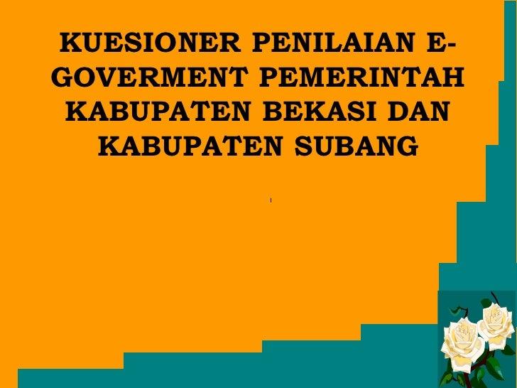 Laporan Kuesioner Penilaain Website
