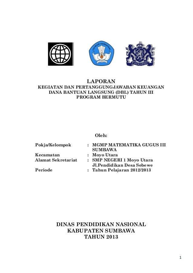 Laporan mgmp mat gugus iii sumbawa thn. 2013