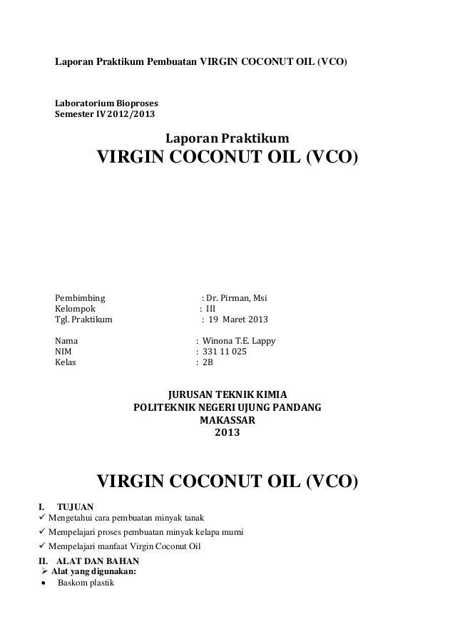 Laporan Pembuatandan Analisa Vco
