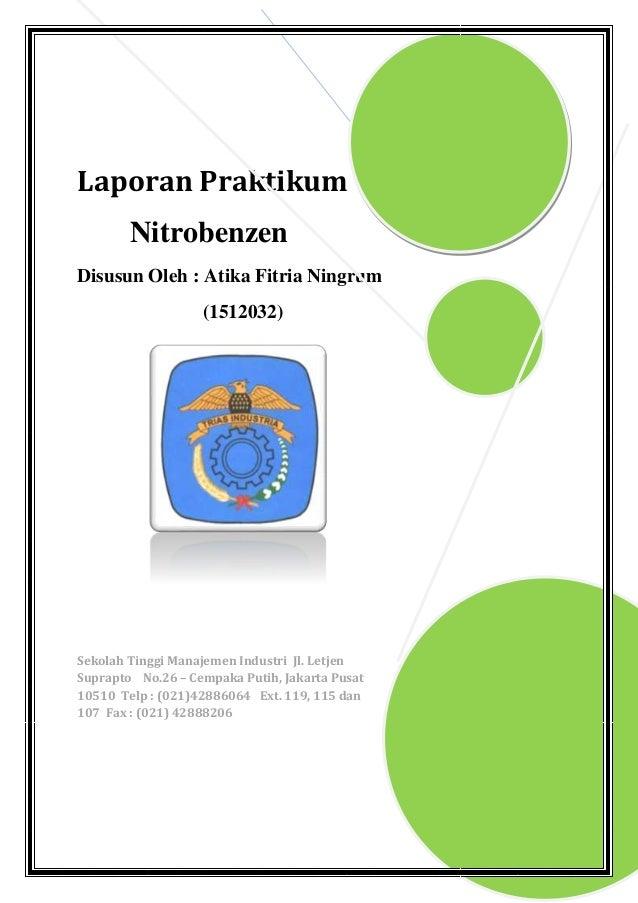 Laporan praktikum nitrobenzen