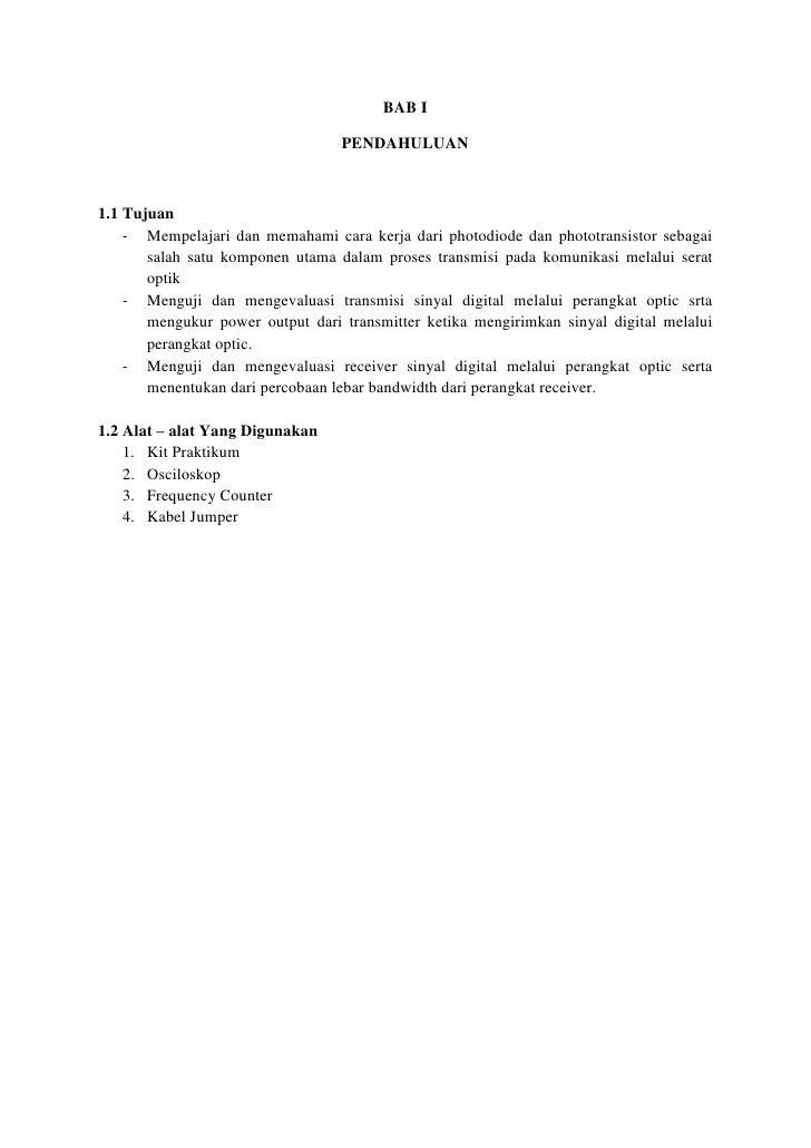 BAB I                                  PENDAHULUAN1.1 Tujuan    - Mempelajari dan memahami cara kerja dari photodiode dan ...