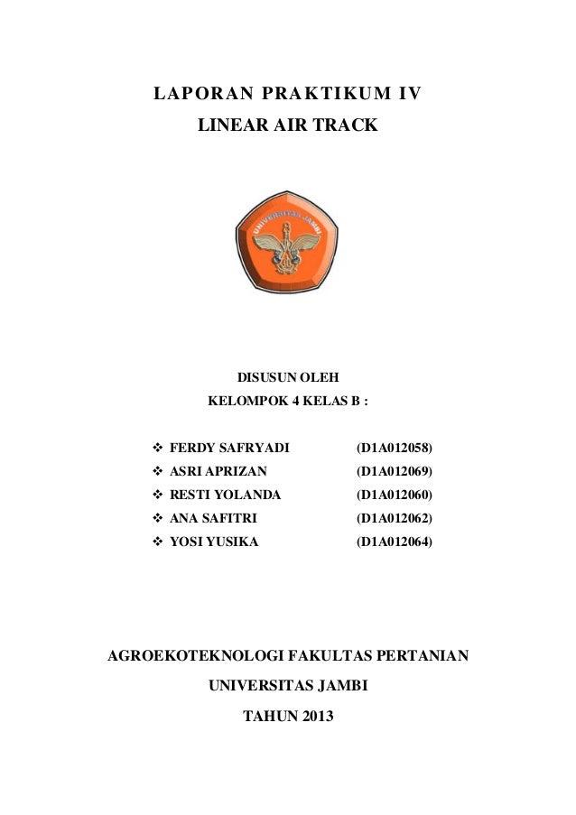 Laporan praktikum linear airtrack