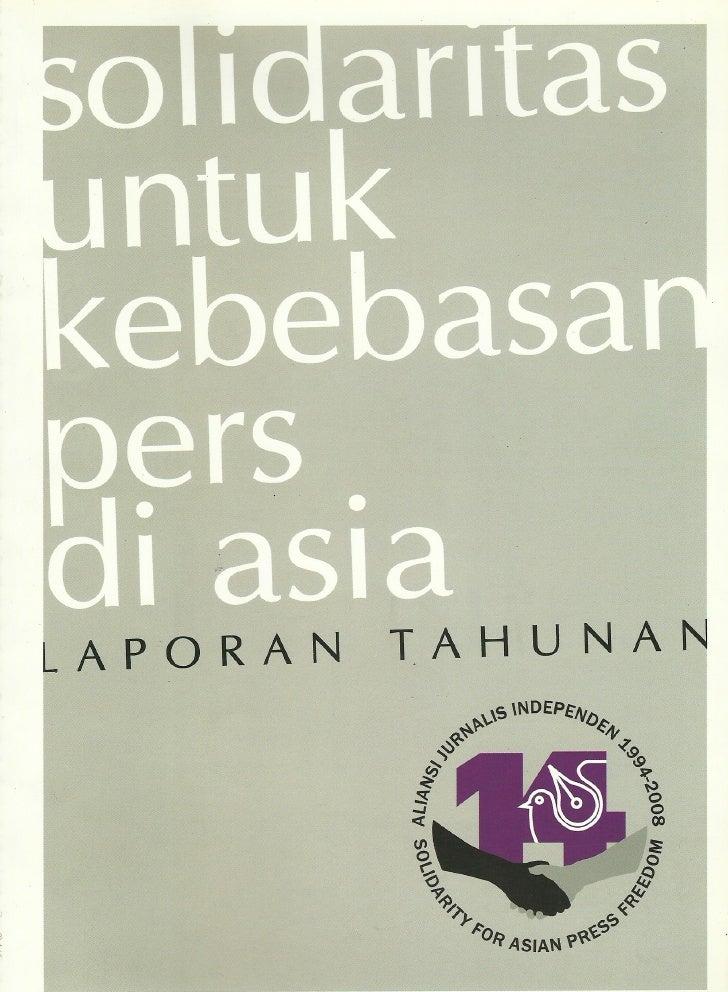 Laporan Tahunan AJI 2008