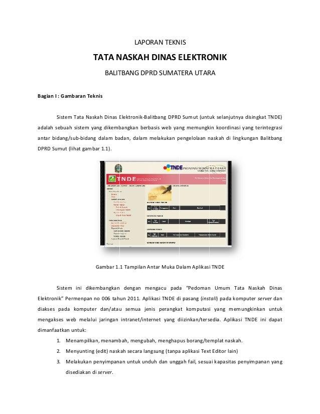 Laporan Teknis TNDE