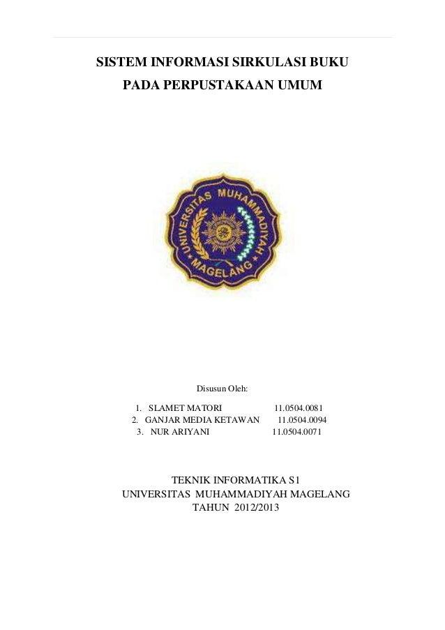 Laporan tugas arsi (sistem sirkulasi buku pada perpustakaan umum)