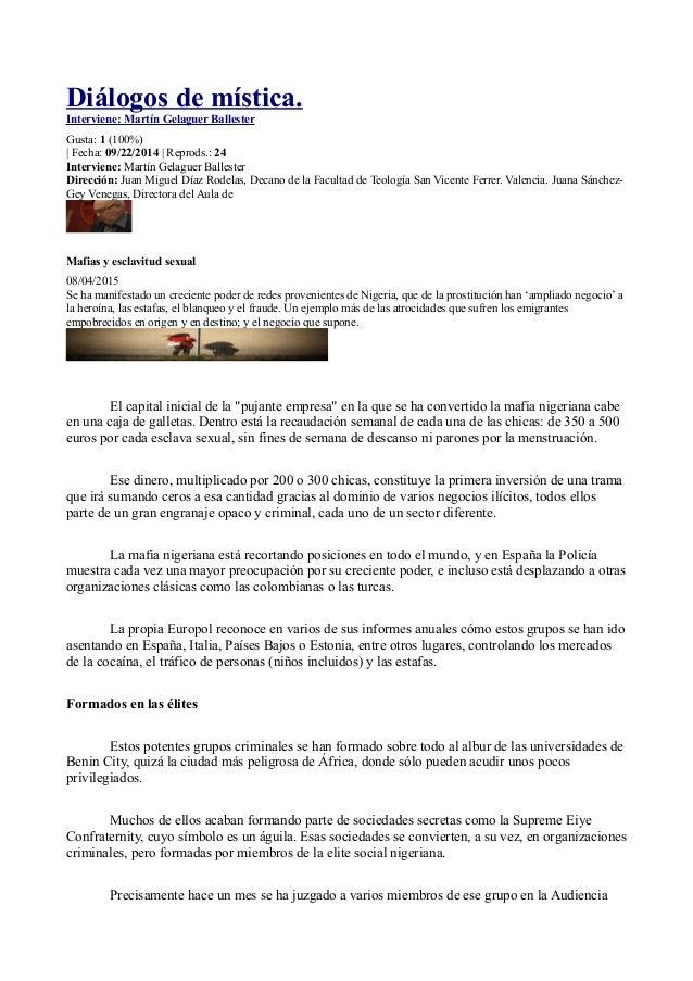 Diálogos de mística. Interviene: Martín Gelaguer Ballester Gusta: 1 (100%) | Fecha: 09/22/2014 | Reprods.: 24 Interviene: ...