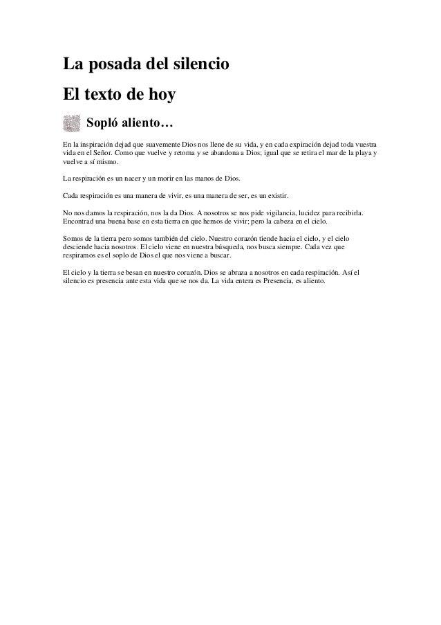 La posada del silencio nº 8,curso v