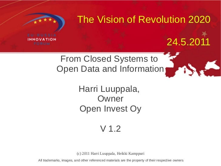 The Vision of Revolution 2020                                                                                      24.5.20...