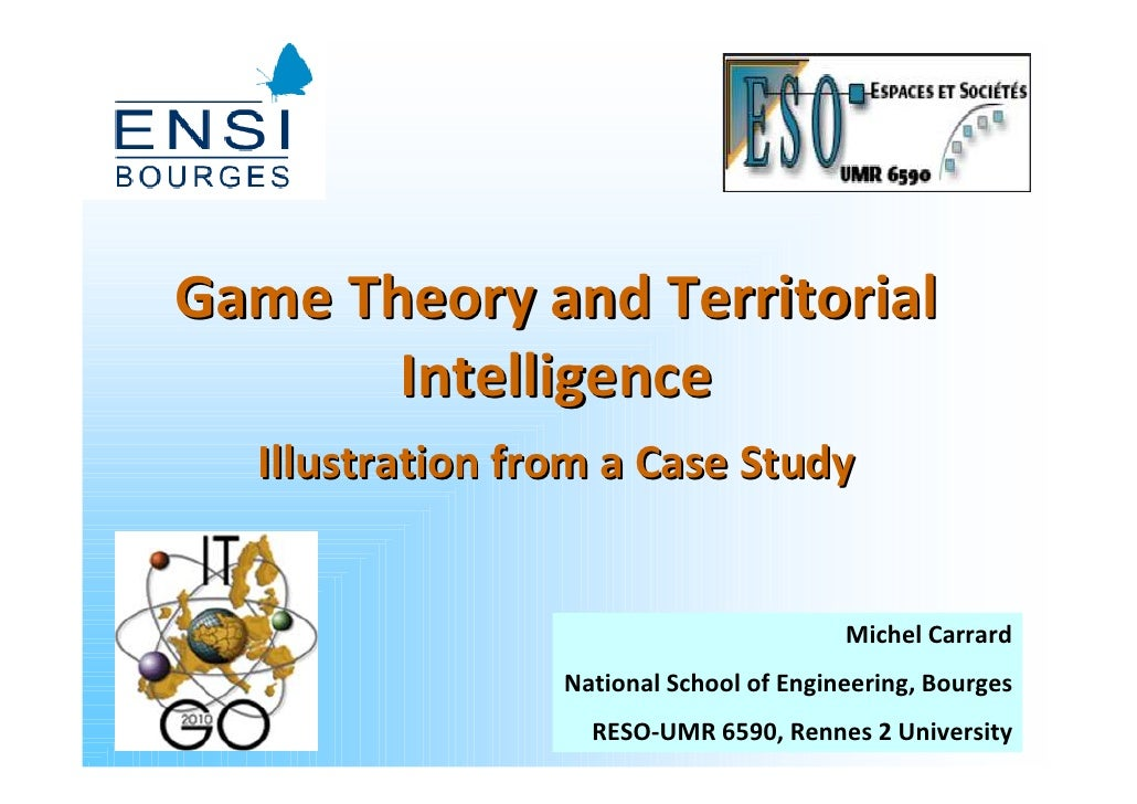 Game Theory and Territorial        Intelligence   Illustration from a Case Study                                          ...